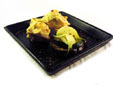 Pechuga de pollo con berenjena y calabacín en papillote