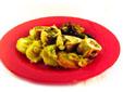 Pechuga de pavo rellena de champiñones y espárragos verdes