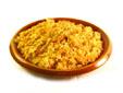 Arroz encebollado con pechuga de pollo y pimentón