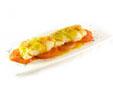 Merluza a la plancha con tomate asado y salsa bilbaína