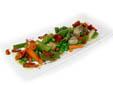 Menestra de verduras con refrito de ajos