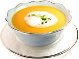 sopa de pescado y espuma de percebes