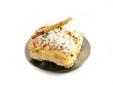 Hojaldre relleno de crema pastelera y nata