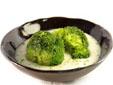 Brócoli con crema de requesón